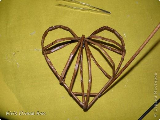 Это мой усовершенствованный  и уже немного систематизированный вариант плетенного сердца.. Фото 10