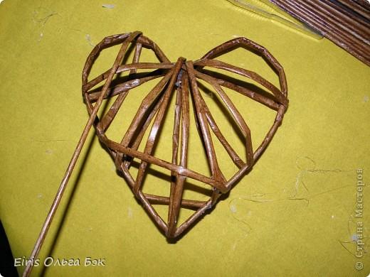 Это мой усовершенствованный  и уже немного систематизированный вариант плетенного сердца.. Фото 11