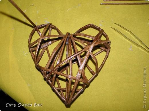 Это мой усовершенствованный  и уже немного систематизированный вариант плетенного сердца.. Фото 12