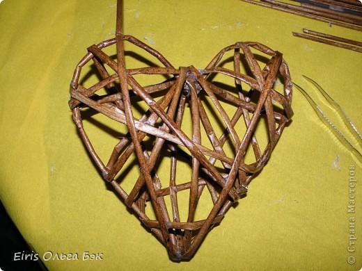 Это мой усовершенствованный и уже немного систематизированный вариант плетенного сердца.. Фото 13