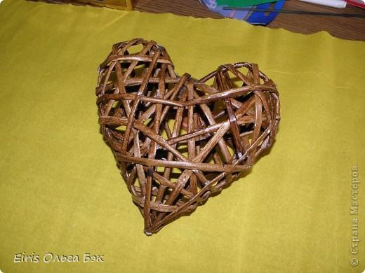 Это мой усовершенствованный и уже немного систематизированный вариант плетенного сердца.. Фото 14