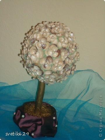 Вот такое дерево можно сделать самому из ракушек .. Фото 12