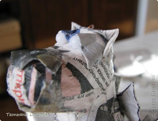 Мастер-класс, Поделка, изделие Папье-маше: Дракон на елку. Папье-маше. МК Бумага газетная, Клей Новый год. Фото 29