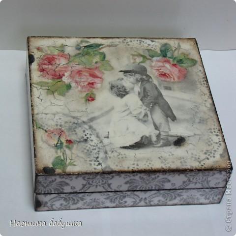Декор предметов Декупаж: Ретро коробочка. Краска, Салфетки. Фото 1