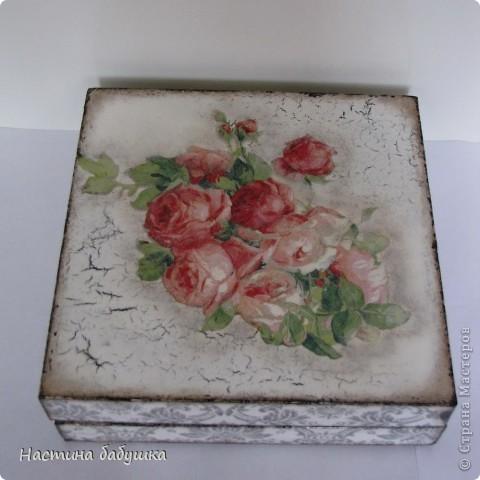 Декор предметов Декупаж: Ретро коробочка. Краска, Салфетки. Фото 2