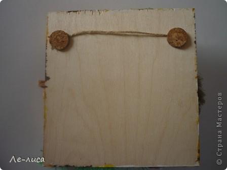Мастер-класс Коллаж: Домовой у плетня или утилизация цветочной корзины. Мини-МК.. Фото 7