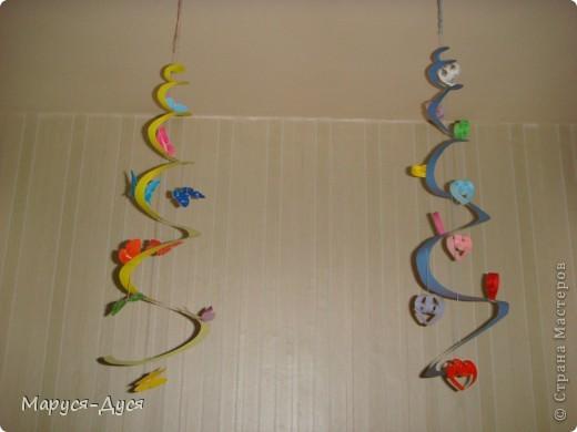 Мастер-класс Бумагопластика: Украшение-спираль для дома Мини-МК Бумага. Фото 1
