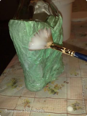 Мастер-класс Моделирование: Как я делала свою бутылочку. Небольшой МК. Бутылки стеклянные. Фото 6