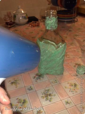 Мастер-класс Моделирование: Как я делала свою бутылочку. Небольшой МК. Бутылки стеклянные. Фото 13