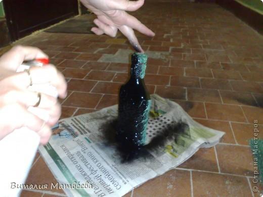Мастер-класс Моделирование: Как я делала свою бутылочку. Небольшой МК. Бутылки стеклянные. Фото 15