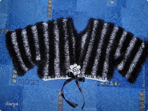 Гардероб Вязание спицами: Пушистое болеро Пряжа. Фото 6