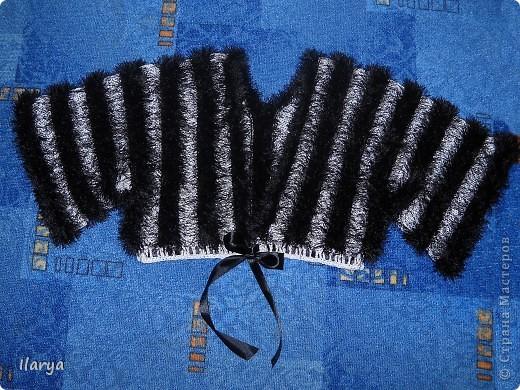 Гардероб Вязание спицами: Пушистое болеро Пряжа. Фото 5