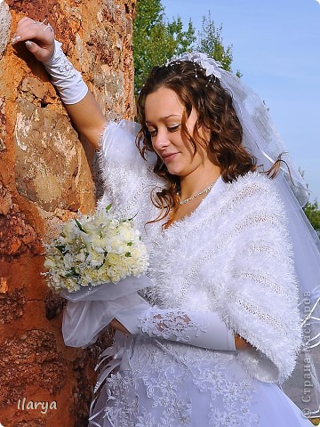 Гардероб Вязание спицами: Пушистое болеро Пряжа. Фото 8