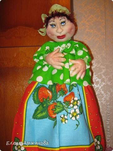 Куклы, Мастер-класс Шитьё: Помощница-полотенница +МК Капрон День рождения. Фото 1