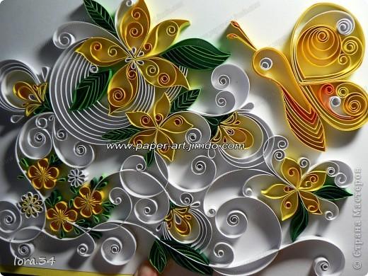 """Картина, панно Квиллинг: """"Лимонад"""" (квиллинг) Картон 8 марта, Валентинов день, День матери, День рождения, День семьи. Фото 1"""