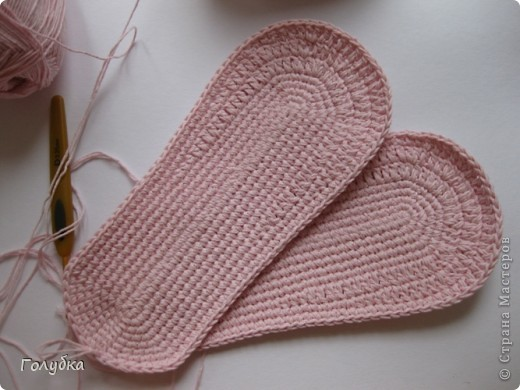 Гардероб Вязание крючком: Балетки для кокетки Пряжа. Фото 5