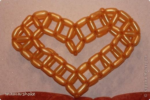 Сердце из шаров Шарики