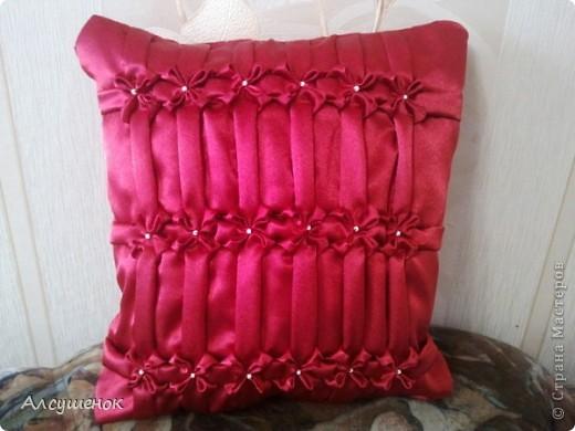 Декор предметов Шитьё: Подушки буфы Ткань.  Фото 5.