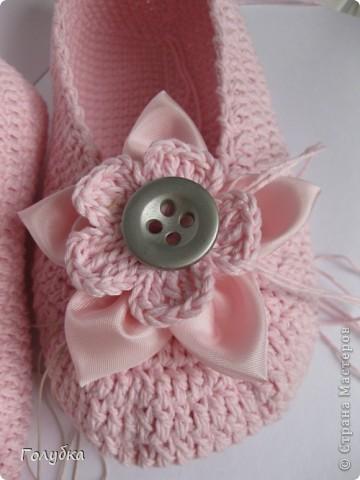 Гардероб Вязание крючком: Балетки для кокетки Пряжа. Фото 9