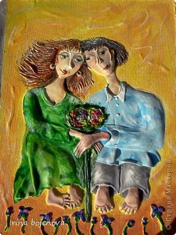 Картина, панно: ПОПЫТКА №2.Цвет очень удачно получился,да и картину наконец то доделала! Тесто соленое. Фото 2