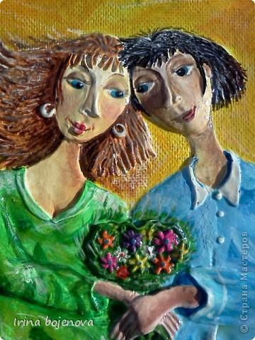 Картина, панно: ПОПЫТКА №2.Цвет очень удачно получился,да и картину наконец то доделала! Тесто соленое. Фото 4