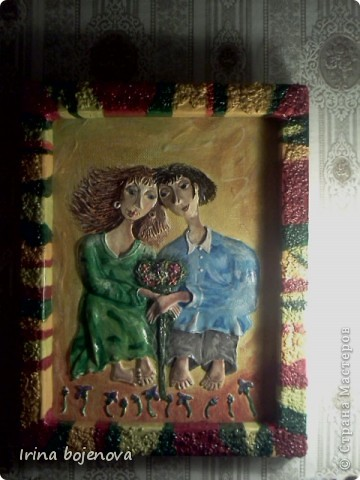 Картина, панно: ПОПЫТКА №2.Цвет очень удачно получился,да и картину наконец то доделала! Тесто соленое. Фото 1