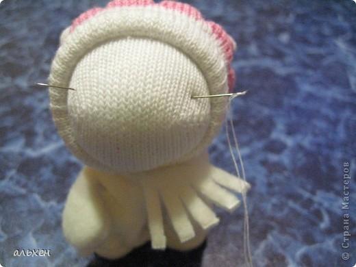 Куклы, Мастер-класс Шитьё:  Чудики..... или как я их делала..... Бусинки, Нитки, Носки Новый год. Фото 27