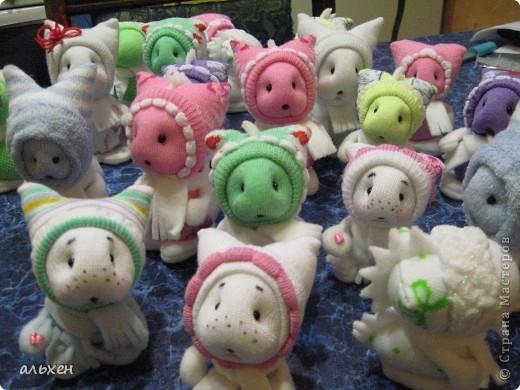 Куклы, Мастер-класс Шитьё:  Чудики..... или как я их делала..... Бусинки, Нитки, Носки Новый год. Фото 1