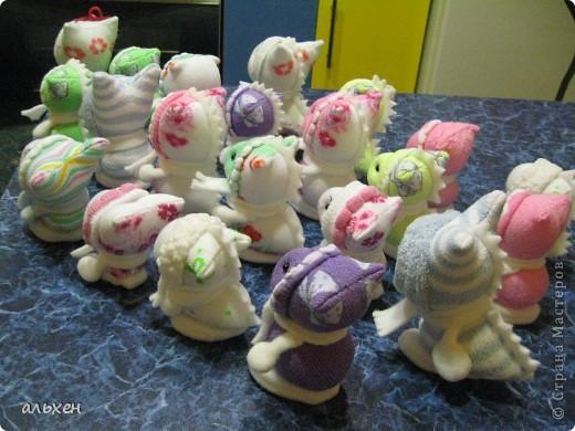 Куклы, Мастер-класс Шитьё:  Чудики..... или как я их делала..... Бусинки, Нитки, Носки Новый год. Фото 32