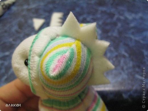 Куклы, Мастер-класс Шитьё: Чудики.... продолжение.... Дракоши-Чудики МК Бусинки, Клей, Нитки, Носки Новый год. Фото 15