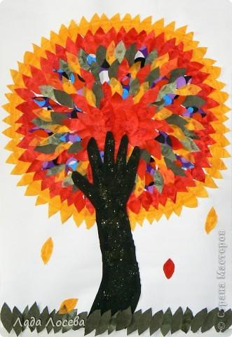 Коллективная работа Аппликация: Сказочно красочная осень Ткань