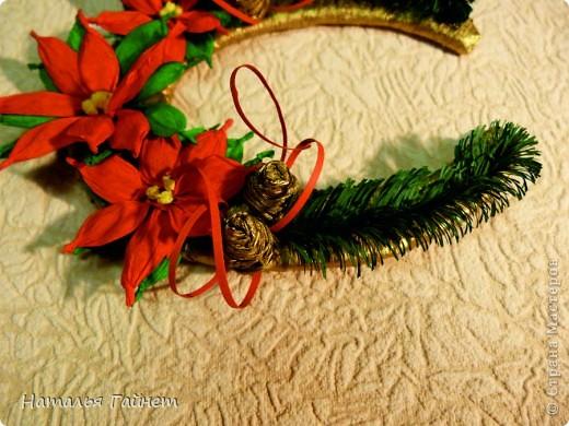 Мастер-класс, Поделка, изделие Бумагопластика, Квиллинг: Подковы-магнитики из подложек и креповой бумаги. Бумага гофрированная, Бумажные полосы, Клей, Материал бросовый, Пенопласт Новый год, Рождество. Фото 16