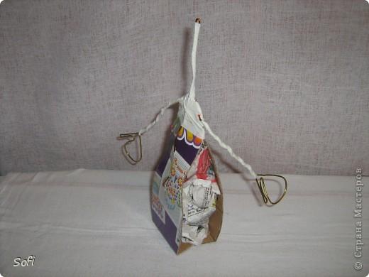 Куклы, Мастер-класс Шитьё: Медсестра. Проволочно-картонный каркас, как делаю это я. Капрон. Фото 11