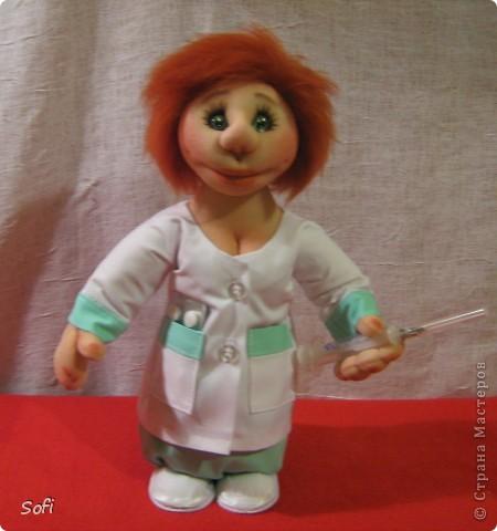 Куклы, Мастер-класс Шитьё: Медсестра. Проволочно-картонный каркас, как делаю это я. Капрон. Фото 40