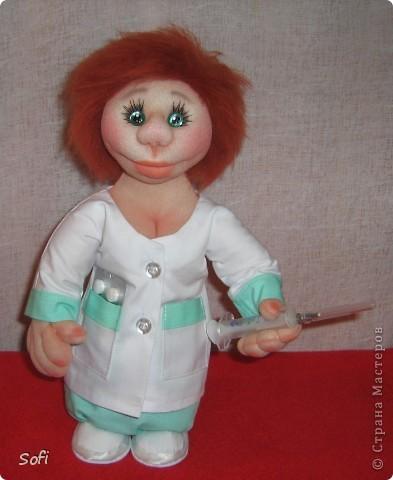 Куклы, Мастер-класс Шитьё: Медсестра. Проволочно-картонный каркас, как делаю это я. Капрон. Фото 1