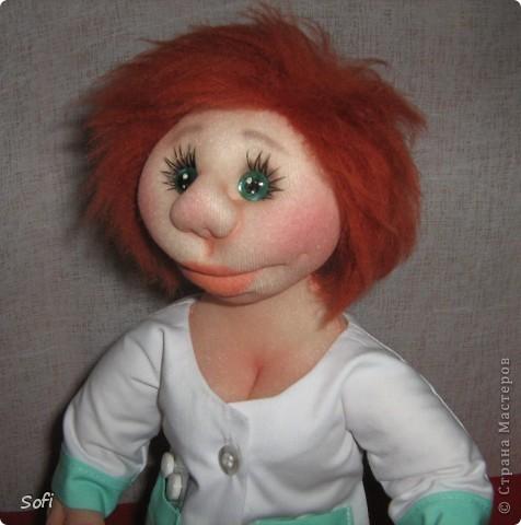 Куклы, Мастер-класс Шитьё: Медсестра. Проволочно-картонный каркас, как делаю это я. Капрон. Фото 41