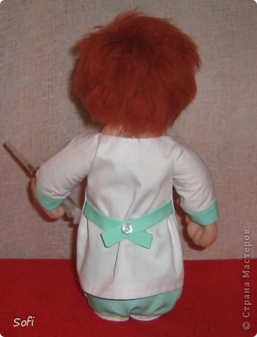 Куклы, Мастер-класс Шитьё: Медсестра. Проволочно-картонный каркас, как делаю это я. Капрон. Фото 43
