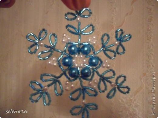 Мастер-класс Бисероплетение: Снежинки  МК Бисер Новый год. Фото 1