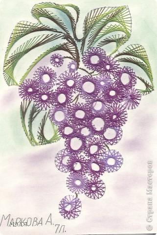 Изонить: ягоды Картон. Фото 2
