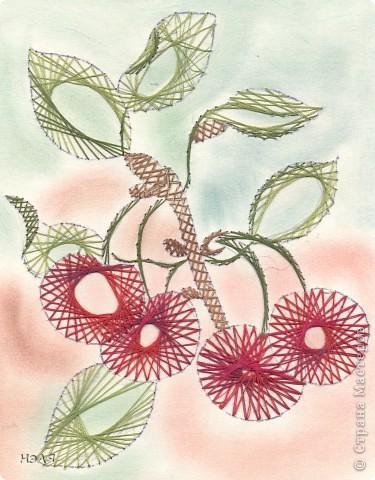 Изонить: ягоды Картон. Фото 3