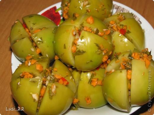 Кулинария, Мастер-класс Рецепт кулинарный: Квашеные фаршированные зелёные помидоры Продукты пищевые. Фото 1
