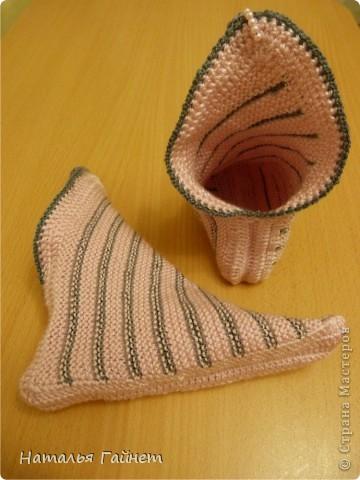 Вязание носков из квадратиков спицами 41