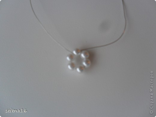 Maestro listones clase: perlas MK copos de nieve del Año Nuevo.  Foto 7
