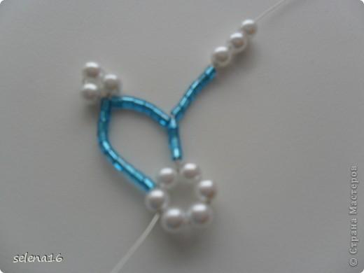 Maestro listones clase: perlas MK copos de nieve del Año Nuevo.  Foto 12