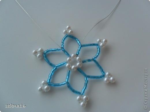 Maestro listones clase: perlas MK copos de nieve del Año Nuevo.  Foto 17