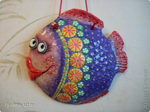 Поделка, изделие Лепка: рыбы Тесто соленое Отдых. Фото 1