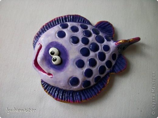 Поделка, изделие Лепка: рыбы Тесто соленое Отдых. Фото 7