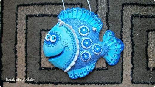 Поделка, изделие Лепка: рыбы Тесто соленое Отдых. Фото 11