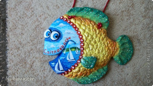 Поделка, изделие Лепка: рыбы Тесто соленое Отдых. Фото 5