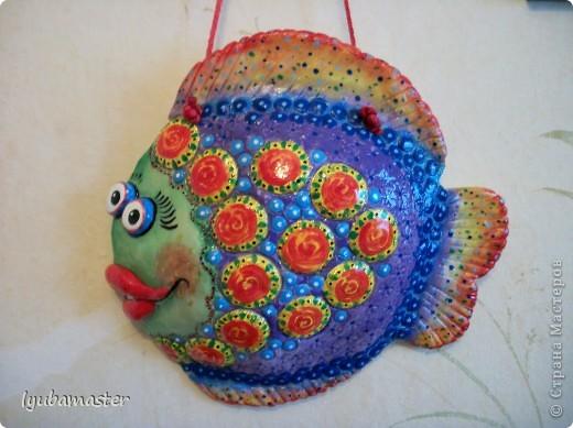 Поделка, изделие Лепка: рыбы Тесто соленое Отдых. Фото 18